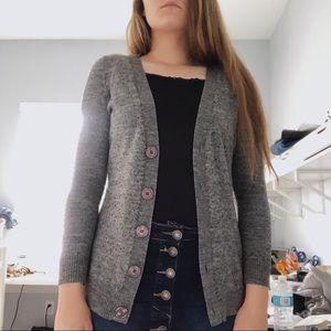 New York & Company Sweaters - FINAL NY&Co.    gray & black button cardigan